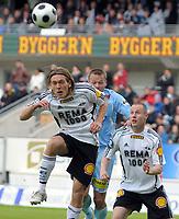 Fotball Tippeligaen 16.05.08 Rosenborg ( RBK ) - Lillestrøm ( LSK ),<br /> Kris Stadsgaard, Otto Fredriksson, Fredrik Stoor,<br /> Foto: Carl-Erik Eriksson, Digitalsport