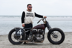 Vince Perry with his 1939 Harley-Davidson U model 80 inch Flathead at TROG (The Race Of Gentlemen). Wildwood, NJ. USA. Sunday June 10, 2018. Photography ©2018 Michael Lichter.