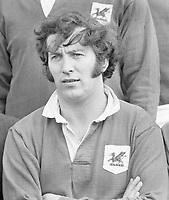Rugby Union - 1972 / 1973 RFU Club Knock-Out Competition - Semi-Final: London Welsh 15 Bristol 18<br /> <br /> John Dawes of London Welsh at Old Deer Park.<br /> <br /> 14/04/1973
