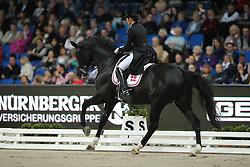 Svane Rikke, (DEN), Finckenstein TSF<br /> Grand Prix Kür<br /> Reem Acra FEI World Cup Dressage<br /> Stuttgart - German Masters 2015<br /> © Hippo Foto - Stefan Lafrentz