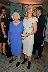 Left to right, MARY WESTON and her daughter KATE HOBHOUSE at a party hosted by Ewan Venters CEO of Fortnum & Mason to celebrate the launch of The Cook Book by Tom Parker Bowles held at Fortnum & Mason, 181 Piccadilly, London on 18th October 2016.