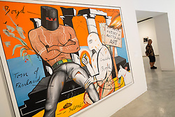 Painting Sentimental History of Australian Art by Juan Davilla at Museum of Contemporary Art in Sydney Australia