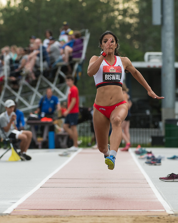 OTTAWA - JULY 07: Divya Biswal competing in the Women's High Jump during the 2017 Canadian Track and Field Championships at the Terry Fox Athletic Facility in Ottawa, ON., Canada on July 7, 2017.<br /> <br /> Photo: Steve Kingsman for Sports Ottawa/Ottawa Sportspage