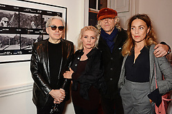 Left to right, CHRIS STEIN, DEBBIE HARRY, BOB GELDOF and JEANNE MARINE and MARIANNE FAITHFUL  at a private view of Chris Stein/Negative: Me, Blondie And The Advent Of Punk, held at Somerset House, The Strand, London on 5th November 2014.