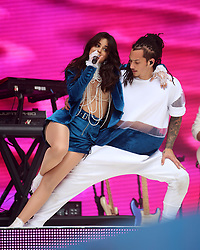 Camila Cabello on stage during Capital's Summertime Ball with Vodafone at Wembley Stadium, London.