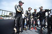 May 2-4, 2014: Laguna Seca Raceway. Drivers talking after round 3 at Laguna Seca.