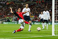 Photo: Richard Lane/Sportsbeat Images.<br />England v Germany. International Friendly. 22/08/2007. <br />Germany's Kevin Kuranyi scores their first goal.
