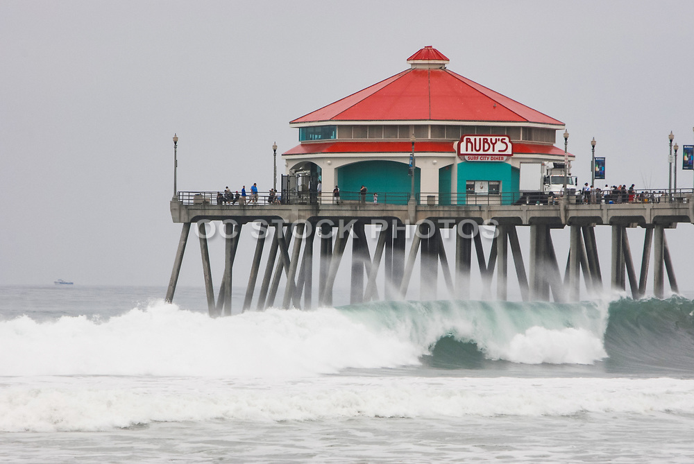 Offshore Winds And Overcast at Huntington Beach Pier