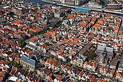 Nederland, Noord-Holland, Alkmaar, 28-04-2010; overzicht binnenstad met Sint Laurentiuskerk aan Verdronkenoord..Town Overview..luchtfoto (toeslag), aerial photo (additional fee required).foto/photo Siebe Swart