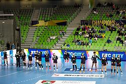 Team RK Krim Mercator Ljubljana during handball match between RK Krim Mercator Ljubljana and Metz Handball in EHF Champions League Women 2021/22, Group Phase, on October 17, 2021 in SRC Stozice, Ljubljana, Slovenia. Photo by Matic Klansek Velej / Sportida