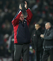 Photo: Lee Earle.<br /> Portsmouth v Sheffield United. The Barclays Premiership. 23/12/2006. Portsmouth manager Harry Redknapp celebrates at the end of the match.