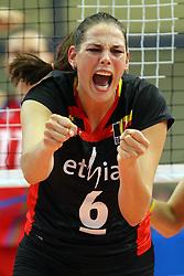 Belgium Charlotte Leys celebrates