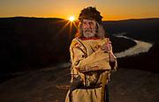 Actor John Hedgcoth as a mountain man, Wednesday, March 6, 2019, in Signal Mountain, Tenn. (Wade Payne/www.wadepaynephoto.com)