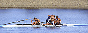 Sydney Olympics 2000 - Penrith Lakes, NSW. GBR M4- after crossing the finishing line, celebrate winning the Olympic Gold Medal left Tim Foster, Matthew Pinsent, Steve Redgrave and james Cracknell.  © 2000 All Rights Reserved - [Mandatory Credit: Peter Spurrier intersport images] 2000 Olympic Regatta Sydney International Regatta Centre (SIRC) 2000 Olympic Rowing Regatta00085138.tif