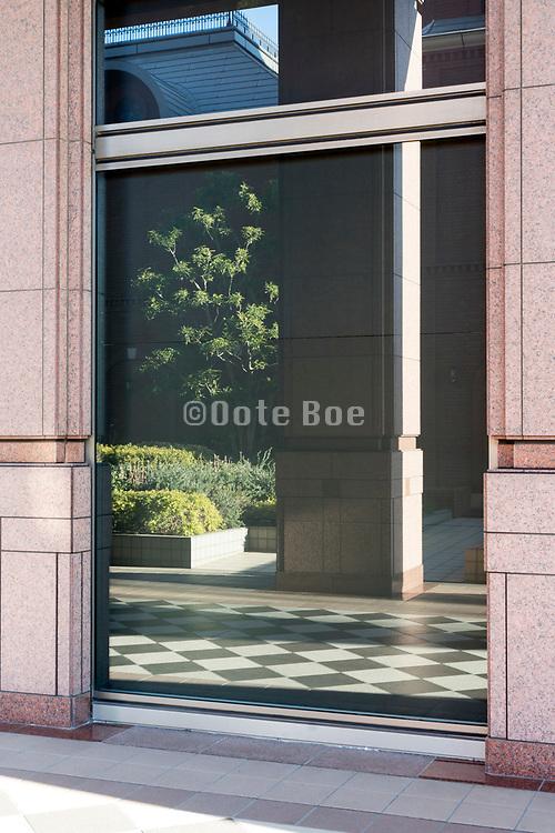 window reflection Tokyo japan