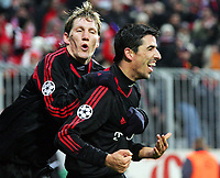 v.l. Bastian Schweisteiger, Roy Makaay Bayern jubel nach 4:0<br /> Champions League FC Bayern München - Rapid Wien <br /> Norway only