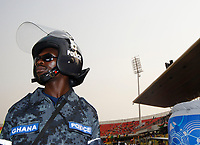 Photo: Steve Bond/Richard Lane Photography.<br /> Guinea v Morocco. Africa Cup of Nations. 24/01/2008. The affable Ghana police keep order