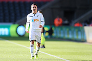 Roque Mesa of Swansea city looks on. Swansea city v Sampdoria , pre-season friendly at the Liberty Stadium in Swansea, South Wales on Saturday August 5th 2017.<br /> pic by Andrew Orchard, Andrew Orchard sports photography.
