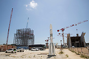Mcc0084404 . Daily Telegraph<br /> <br /> Aeolus Satellite Launch<br /> <br /> The contruction site for the Ariane 6 launch pad <br /> <br />  . <br /> The Aeolus Satellite, designed and built by Airbus contains pioneering technology that will monitor winds around the globe that will change weather forecasting forever .<br /> <br /> Kourou, French Guiana 21 August 2018