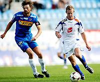 Fotball , <br /> Adeccoligaen , <br /> 13.07.08 , <br /> Komplett.no stadion , <br /> Sandefjord - FK Haugesund , <br /> Fredrik Kjølner Sandefjord , <br /> Kevin Nicol Haugesund , <br /> Foto: Thomas Andersen / Digitalsport