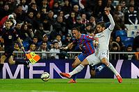Real Madrid´s Lucas Silva and Levante UD´s Jordi Xumetra Feliu during 2014-15 La Liga match between Real Madrid and Levante UD at Santiago Bernabeu stadium in Madrid, Spain. March 15, 2015. (ALTERPHOTOS/Luis Fernandez)