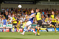 Sheffield Wednesday midfielder Adam Reach (20) gets away from Burton Albion defender Jake Buxton (23) and shoots at goal during the EFL Sky Bet Championship match between Burton Albion and Sheffield Wednesday at the Pirelli Stadium, Burton upon Trent, England on 26 August 2017. Photo by Richard Holmes.