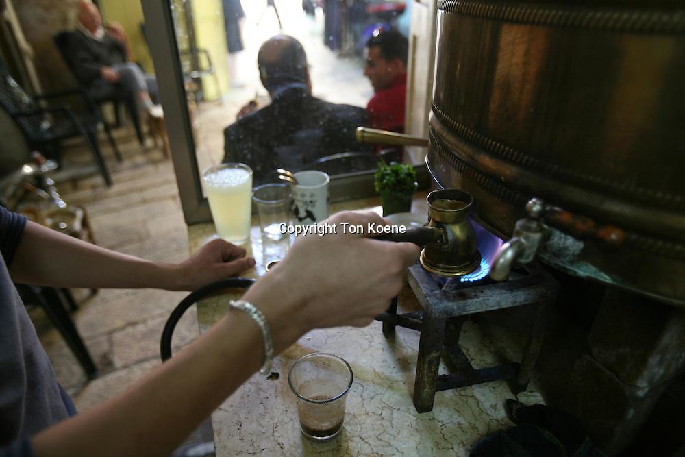 teashop in the old city of jeruzalem
