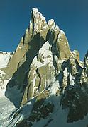 Cerro Torre from FitzRoy, winter 1993, Photo: Gottlieb Braun-Elwert