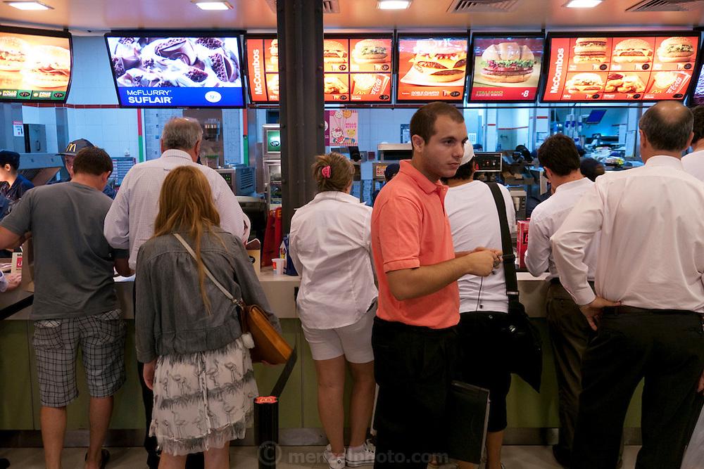 Florida Street, Buenos Aires. McDonalds fast food restaurant