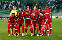 RAZGRAD, BULGARIA - OCTOBER 22: The team of Antwerp line-up during the UEFA Europa League Group J stage match between PFC Ludogorets Razgrad and Royal Antwerp at Ludogorets Arena on October 22, 2020 in Razgrad, Bulgaria. (Photo by Nikola Krstic/MB Media)