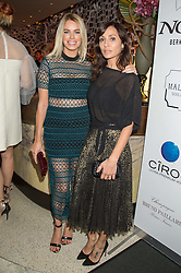 Left to right, CAROLINE STANBURY and NATALIE IMBRUGLIA at a party to celebrate the 10th anniversary of Nobu Berkeley Street held on 5th November 2015.