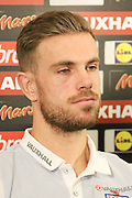 England midfielder Jordan Henderson during the England Team Media Conference ahead of England v Scotland, at St George's Park National Football Centre, Burton-Upon-Trent, United Kingdom on 10 November 2016. Photo by Aaron  Lupton.