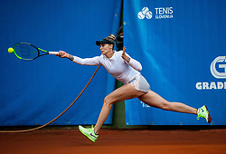 Polona Hercog  of Team East  in action during Day 1 of tennis tournament Mima Jausovec cup where compete best Slovenian tennis players of the East and West, on June 6, 2020 in RCU Lukovica, Slovenia. Photo by Vid Ponikvar / Sportida