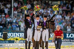 Podium Individual, Werth Isabell, Schneider Dorothee, von Bredow-Werndl Jessica<br /> European Championship Dressage<br /> Rotterdam 2019<br /> © Hippo Foto - Dirk Caremans