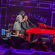 NLD/Amsterdam/20200306 - Holland Zingt Hazes 2020, Jeroen van der Boom en Roxanne Hazes