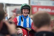 29/07/2017   David Mullins who won the second race on Miss Eyecatcher on Plate day of the Galway Races.   Photo:Andrew Downes, xposure