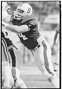 COLLEGE FOOTBALL:  Stanford vs San Jose State on September 23, 1984 at Stanford Stadium in Palo Alto, California.  Jeff Deaton #64.  Photograph by David Madison ( www.davidmadison.com ). R3185-10