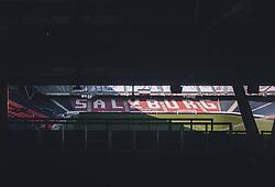 09.03.2020, Red Bull Arena, Salzburg, AUT, Coronavirus in Österreich, im Bild das Gesperrte Fussball Stadion des FC Red Bull Salzburg. Wegen des Coronavirus wurde der Spielbetrieb in der Österreichischen Bundesliga eingestellt. Wann Fussballspiele wieder stattfinden können ist aktuell noch unklar // the closed Football Stadium of FC Red Bull Salzburg. Due to the Corona crisis, the Austrian League was suspended. It is not yet clear when soccer matches will take place. Salzburg, Austria on 2020/03/09. EXPA Pictures ©️ 2020, PhotoCredit: EXPA/ JFK
