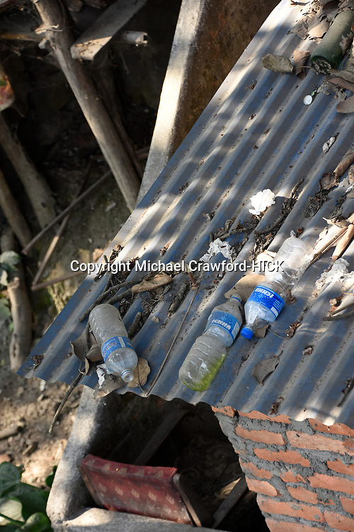 General plastic rubbish dicarded on a roof