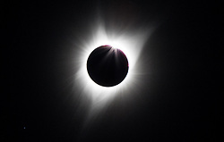 August 21, 2017 - Driggs, Idaho, U.S - Solar Eclipse in the totality zone in Driggs Idaho on Monday August 21, 2017 (Credit Image: © Kevin Warn via ZUMA Wire)