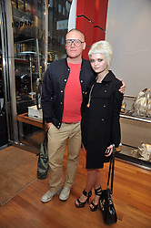 GILES DEACON and PIXIE GELDOF at a party in aid of the charity Best Buddies held at the Hogan store, 10 Sloane Street, London SW10 on 13th May 2009.