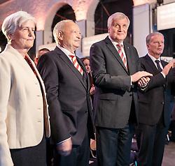 07.04.2016, Congress, Innsbruck, AUT, Wahlkampfauftakt Andreas Khol zur Präsidentschaftswahl 2016, im Bild v.l: Heidi Khol, Praesidentschaftskandidat Andreas Khol (OeVP), Bayerns Ministerpräsident Horst Seehofer (CSU), Vizekanzler Reinhold Mitterlehner (OeVP) // f.l.: Heidi Khol Candidate for Presidential Elections Andreas Khol (OeVP) Bavarian Prime Minister Horst Seehofer (CSU) Vice Chancellor Reinhold Mitterlehner (OeVP) during campaign opening according to the austrian presidential elections at the Congress in Innsbruck, Austria on 2016/04/07. EXPA Pictures © 2016, PhotoCredit: EXPA/ Johann Groder