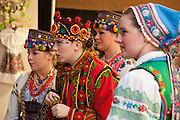 Vesna, A Celebration of Spring. Vesna Festival is one of Canada's largest and longest running Ukrainian cultural festivals. Young dancers with Pavlychenko Folklorique Ensemble, a dynamic Ukrainian dance company based in Saskatoon, watch their colleagues while waiting their turn to perform on the Vesna dance floor.
