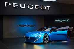 Peugeot Instinct hybrid autonomous vehicle at 87th Geneva International Motor Show in Geneva Switzerland 2017