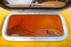 Nick Hancock will head for Rockall in the Atlantic, and the adventurer is planning to spend two months on Britain's most remote outpost, and he is building his survival pod in his back garden.  Pic of the interior..© Michael Schofield...