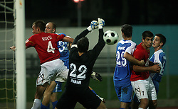 Goalkeeper of Gorica Mitja Pirih at 3rd Round of PrvaLiga Telekom Slovenije between NK HIT Gorica vs NK Rudar Velenje, on August 1, 2008, in Nova Gorica, Slovenija. Rudar won the match 2:0. (Photo by Vid Ponikvar / Sportal Images)