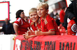 General view of Nottingham Forest fans before the match - Mandatory byline: Jack Phillips / JMP - 07966386802 - 18/8/2015 - FOOTBALL - The City Ground - Nottingham, Nottinghamshire - Nottingham Forest v Charlton Athletic - Sky Bet Championship