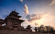 Taleju Temple in Kathmandu's world heritage listed Durbar Square. The temple dates back to 1564 CE.