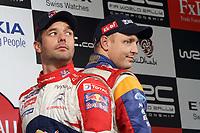 MOTORSPORT - WORLD RALLY CHAMPIONSHIP 2011 - WALES RALLY GB / RALLYE DE GRANDE-BRETAGNE - CARDIFF (GBR) - 10 TO 13/11/2011 - PHOTO : BASTIEN BAUDIN / DPPI - LOEB SEBASTIEN (FRA) - CITROËN DS 3 WRC - CITROËN TOTAL WRT - AMBIANCE PORTRAIT HIRVONEN MIKKO (FIN) - FORD FIESTA RS WRC - FORD ABU DHABI WORLD RALLY TEAM - AMBIANCE PORTRAIT