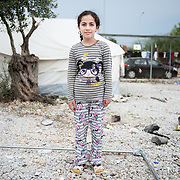 Maran 7 years old from Iraq in Kara Tepe camp in Lesvos, Greece